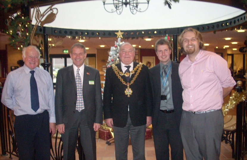 Robert, Bob and Gareth with the Lord Mayor and Extracare Chief Exec Nick Abbey